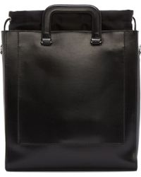 3.1 Phillip Lim - Black Structured Leather Tote Bag - Lyst