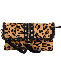 Sondra Roberts Stud And Chain Clutch - Lyst