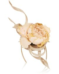 Philip Treacy - Buntal Scroll And Rose-embellished Parisisal Headpiece - Lyst
