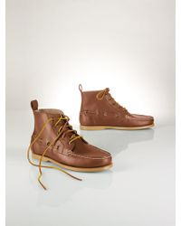 Polo Ralph Lauren Leather Barrott Boot - Lyst