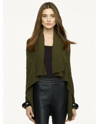 Ralph Lauren Black Label Draped Cashmere Cardigan - Lyst