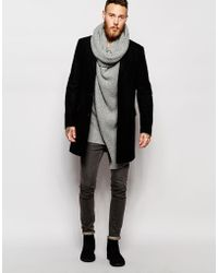 ASOS Sweater With Oversized Cowl Neck - Gray