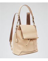Reiss Luca Leather Backpack - Lyst