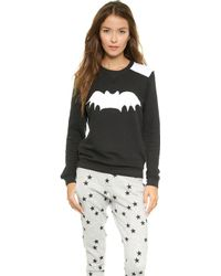 Zoe Karssen Raglan Bat Sweatshirt  Pirate Black - Lyst