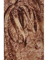 Enza Costa - Snake-print Chiffon Shorts - Lyst