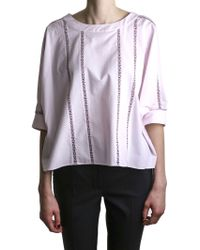 KENZO | Pink Embroidered Blouse | Lyst
