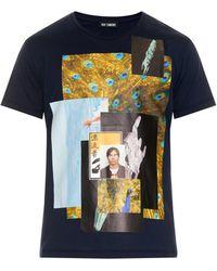 Raf Simons Photo-Montage Cotton-Jersey T-Shirt black - Lyst