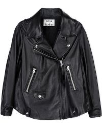 Acne | Leather Outerwear | Lyst