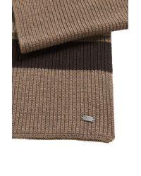 BOSS | 'esar' | Virgin Wool Ribbed Knit Scarf | Lyst