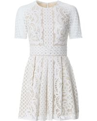 Lover Floral Lace Mini Dress white - Lyst