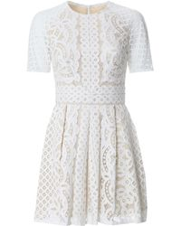 Lover Floral Lace Mini Dress - Lyst