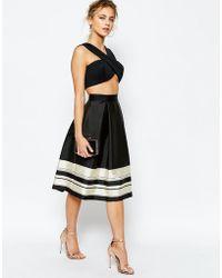 Ted Baker | Full Skirt Stripe Border | Lyst