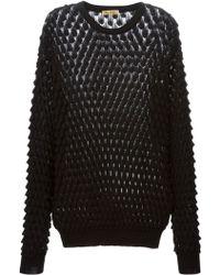 Peter Jensen Textured Knit Sweater - Lyst