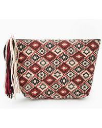 Mango Ethnic Linen-Blend Cosmetic Bag - Lyst