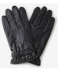 Barbour Burnished Leather Thinsulate Gloves - Lyst