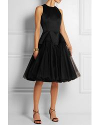 Christopher Kane Satin And Tulle Dress - Lyst