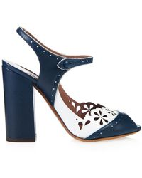 Tabitha Simmons Kitty Leather Sandals - Lyst
