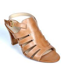 Adrienne Vittadini Senna High-Heel Leather Sandals - Lyst