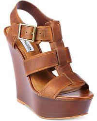 Steve Madden Wanting Platform Wedge Sandals - Lyst