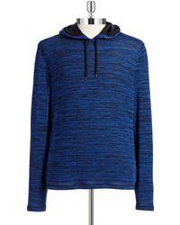 John Varvatos Blue Pullover Hoodie - Lyst