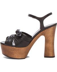 Saint Laurent Candy Platform Leather Sandals - Lyst