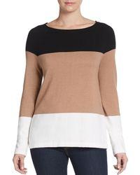 Equipment Joseline Colorblock Cotton  Cashmere Sweater - Lyst