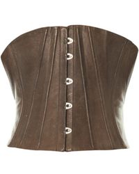 Jean Paul Gaultier Leather Waist Corset - Brown