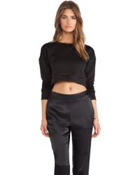 Charles Henry Quilted Cropped Pullover - Lyst