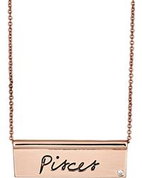Rebecca Minkoff pisces Id Plate Necklace - Pink