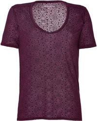Zadig & Voltaire Lace Burnout T-Shirt - Lyst