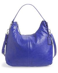 Vince Camuto Riley Lambskin-Leather Hobo Bag - Lyst