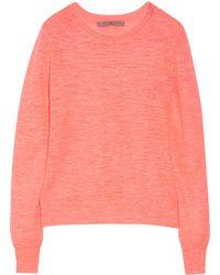 Halston Heritage Neon Linen-blend Sweater - Lyst