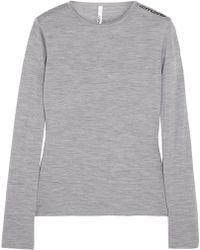 Mover - Merino Wool-jersey Top - Lyst