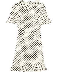 Dolce & Gabbana Ruffled Polka-Dot Stretch-Cotton Dress - Lyst
