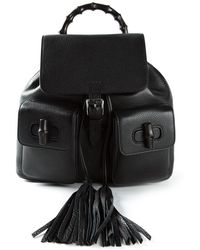 Gucci Tassel Detail Back Pack - Lyst