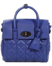 Mulberry Blue Handbag Woman - Lyst