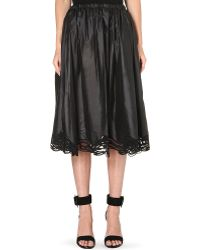 Christopher Kane Gathered Lace Hem Skirt - Lyst