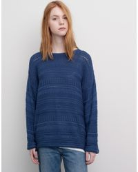 Pull&Bear Wide Sleeve Textured Knit Jumper - Lyst