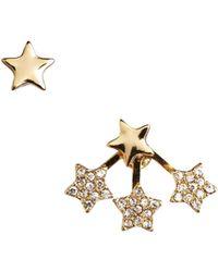 Rachel Roy - Floating Star Stud Earrings - Lyst