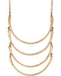 Lucky Brand - Half-Moon Bib Necklace - Lyst