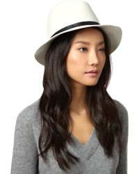 Rag & Bone Alpine White Wool Fedora - Lyst