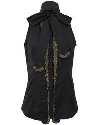 L'Wren Scott | Tie Neck Embroidered Blouse | Lyst
