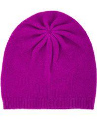 Autumn Cashmere Asymmetric Bag Hat - Purple