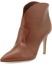 Gianvito Rossi Pointedtoe Low Western Boot - Lyst