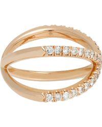 Eva Fehren Shorty Ring Size 8 - Metallic