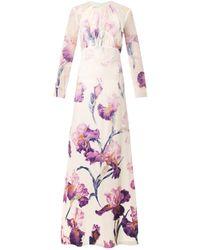 Nina Ricci Irisprint Laceback Gown - Lyst