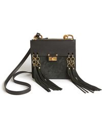 faux chloe bags - Chlo�� Jane Fringed Suede And Leather Cross-body Bag in Beige (TAN ...