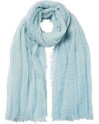 Faliero Sarti Embroidered Wool Scarf - Lyst