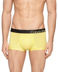 Calvin Klein Low Rise Trunks yellow - Lyst