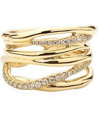 Ippolita - Drizzle 18k Gold Diamond Crossover Ring - Lyst